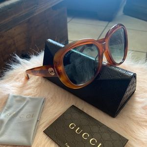 Gucci gg0140/sa Havana gradient sunglasses NWT